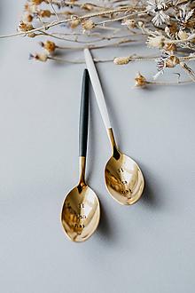 Pomôcky - Špeciálna edícia-sada zlatých lyžičiek - 10757834_