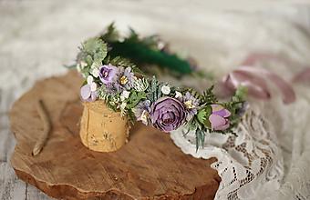 Ozdoby do vlasov - Romantický kvetinový venček z kolekcie LÚKA - 10757949_