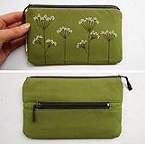 Peňaženky - Peňaženka zelená - Kvitnúca tráva - 10758229_