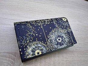 Peňaženky - Peňaženka na 8 kariet,koženka, bavlna - 10757130_