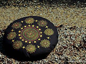 Úžitkový textil - Maľovaný ručne šitý meditačný vankúš GANDAK - 10755713_