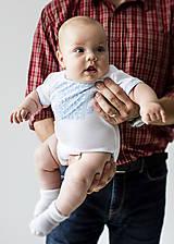 Detské oblečenie - Detské body s ľudovým motívom MYJAVA vol 1. kratky rukáv - 10756142_