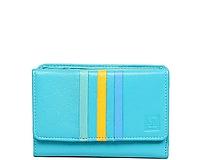 Peňaženky - Dámská tyrkysová kožená peňaženka - 10756639_