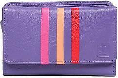 Peňaženky - Dámská fialová kožená peňaženka - 10756670_
