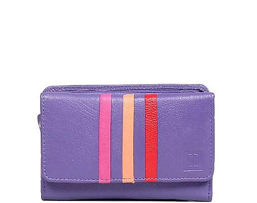 Dámská fialová kožená peňaženka