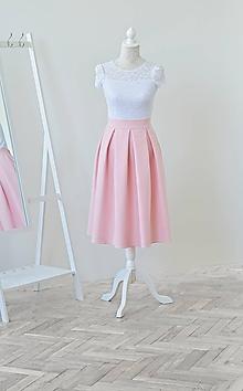 Sukne - MIDI skladaná sukňa s vreckami - 10757006_