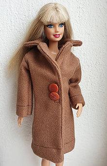 Hračky - Hnedý kabát pre Barbie - 10757105_