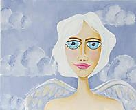 Obrazy - Anjel strážny - originálna maľba - 10755093_