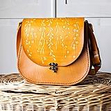 Kabelky - Kožená retro kabelka *floral liana* - 10756144_