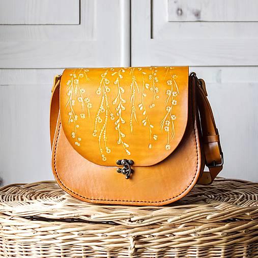 49b5e2216 Kožená retro kabelka *floral liana* / Lu.Si.L - SAShE.sk - Handmade ...