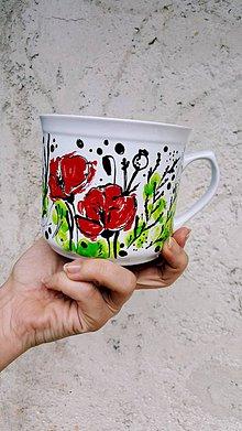 Nádoby - divá lúka- maľovaný hrnček - 10756658_