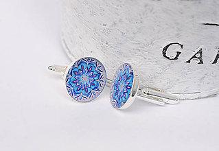 Šperky - modré manžetové gombíky - 10755244_