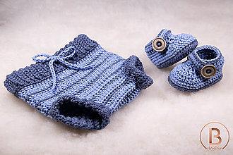 Detské súpravy - Set pre novorodeniatko/modrý - 10757024_
