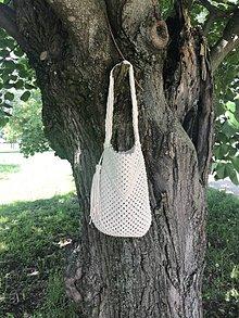 Veľké tašky - makramé kabelka veľká - 10756098_