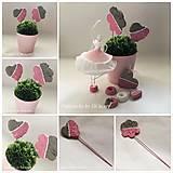 Dekorácie - Zápich do kvetín z kolekcie pre dievčatko - 10755203_