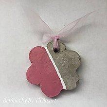 Dekorácie - Betónové kvietky z kolekcie pre dievčatko - 10755122_