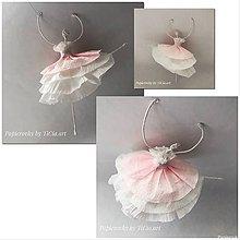 Dekorácie - Roztancovaná balerína 1 - 10755216_