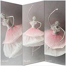 Dekorácie - Roztancovaná balerína 2 - 10755221_