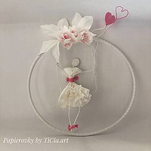 Dekorácie - Zamilovaná balerína na hojdačke - 10755243_