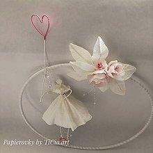 Dekorácie - Zamilovaná balerínka so srdiečkom - 10755249_