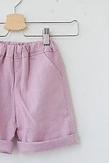 Detské oblečenie - .MiNi kraťasy s vreckami (100% ľan) - 10757252_