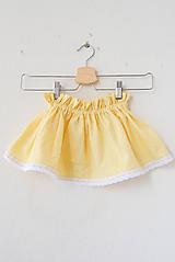 Detské oblečenie - .MiNi suknička s čipkou (100% ľan) - 10757280_