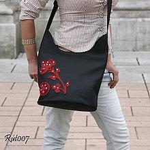Kabelky - Kožená kabelka Jednoduše elegantní_flower - 10758033_
