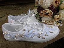 Obuv - čipka s perličkami - 10755295_