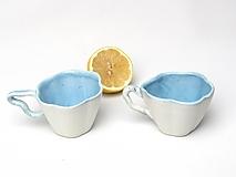 Nádoby - Šálka v tvare kvetu modrá - 10756884_