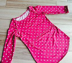 Tričká - Kojo tričko s 3/4 rukávom (Ružová) - 10756930_