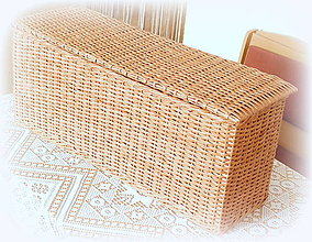 Košíky - Košík hnedý s prepážkou a vrchnákom - 10756281_