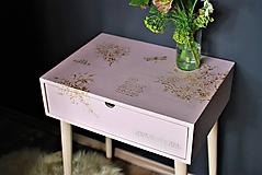 Nábytok - Príručný stolík Rose Toile - 10757434_