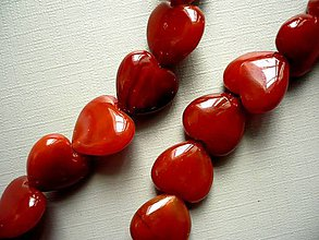 Minerály - Vrt. srdíčka - karneol, 15 mm, 1 ks - 10756827_