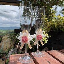 Kytice pre nevestu - Dekorácia na svadobné poháre - 10755077_
