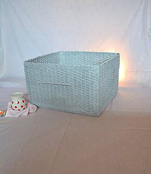 Košíky - Šedý box BARBORKA - 10756418_
