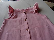 Detské oblečenie - Detské ľanové šatočky - 10756893_