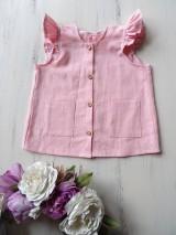 Detské oblečenie - Detské ľanové šatočky - 10756897_