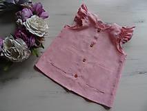 Detské oblečenie - Detské ľanové šatočky - 10756916_