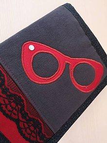 Drobnosti - Obal na knihu Red glasses - 10758439_