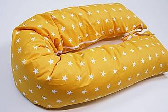 Textil - Tehotenský vankúš / Vankúš na dojčenie hočicový s hviezdičkami - 10758500_