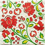 Nezaradené - S621- Servítky - kvety, ornament, ľudový, folklórny motív - 10759019_