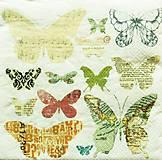 Papier - S1081 - Servítky - motýľ, motýle, krídla, butterfly, sloboda - 10759778_