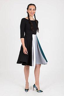 Šaty - Zľava 50% MIESTNE ÁČKOVÉ 4-FAREBNÉ ŠATY (čierne) - 10760164_