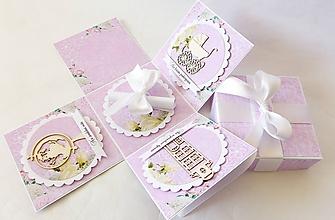 Krabičky - Exploding box - darčeková krabička svadobná - 10758672_