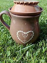 Nádoby - Šálka na čaj - Bylinkáč  (Folk srdce) - 10760034_