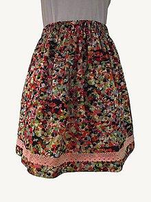 Sukne - suknička riasená - veľká, pestrá - 10758472_