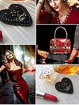 Odznaky/Brošne - ,,Nová luxusná čierno - zlatá brošňa