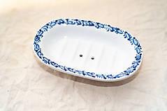 Nádoby - Mištička na mydlo modrá - 10758613_