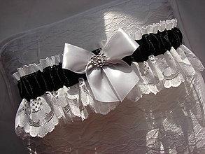 Bielizeň/Plavky - podväzok (Čierno-biela) - 10760136_