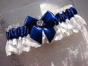 Bielizeň/Plavky - podväzok (Modrá) - 10760154_